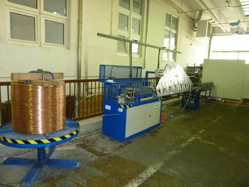 Straightening of copper wire (El. industry - Automotive)