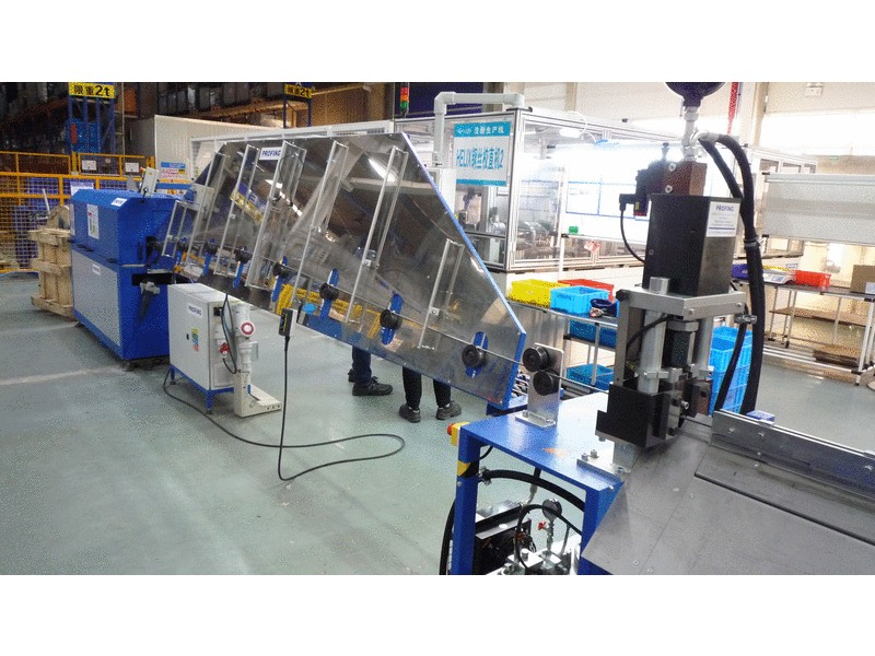 Delivery of a wire straightener to China - automotive