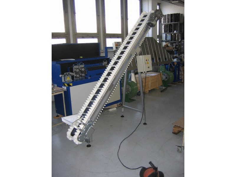 Belt conveyor with carriers